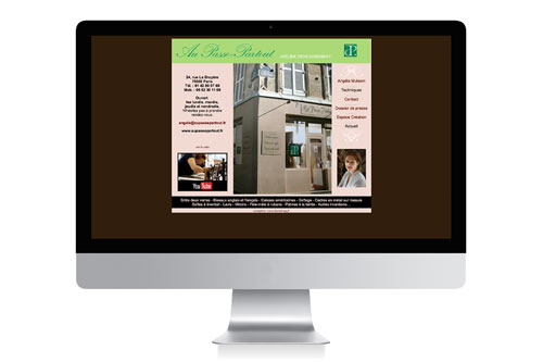 Site vitrine Aupassepartout - Design Laure Drucy