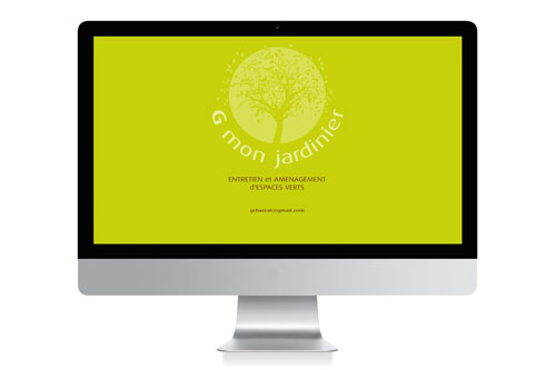 Site vitrine Gmonjardinier - Design Laure Drucy