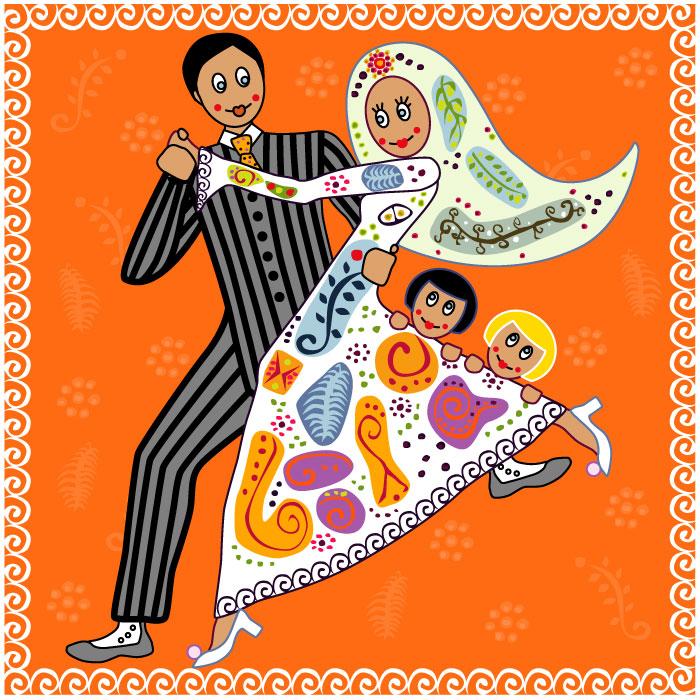 Illustration personnalisée faire part de Mariage Laure Drucy