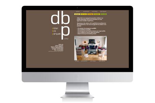 Creation du site vitrine Didier Bre Parquet - Laure Drucy