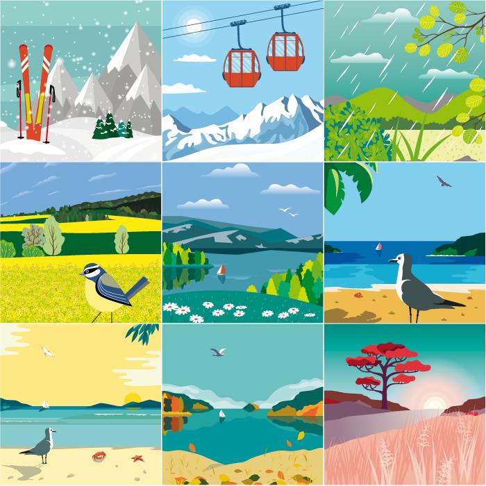 Illustrations pour Pharma Lab - Design Laure Drucy